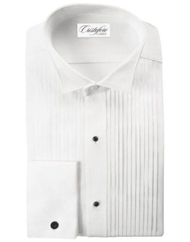 Cardi Mens 100 Cotton Wing Collar Tuxedo Shirt 14 inch pleat -- To view further for this item, visit the image link.