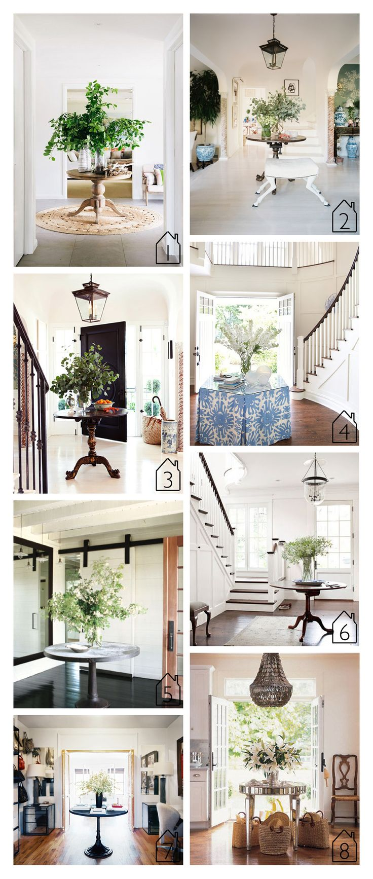 Round Entry Table, Entry Tables, Home