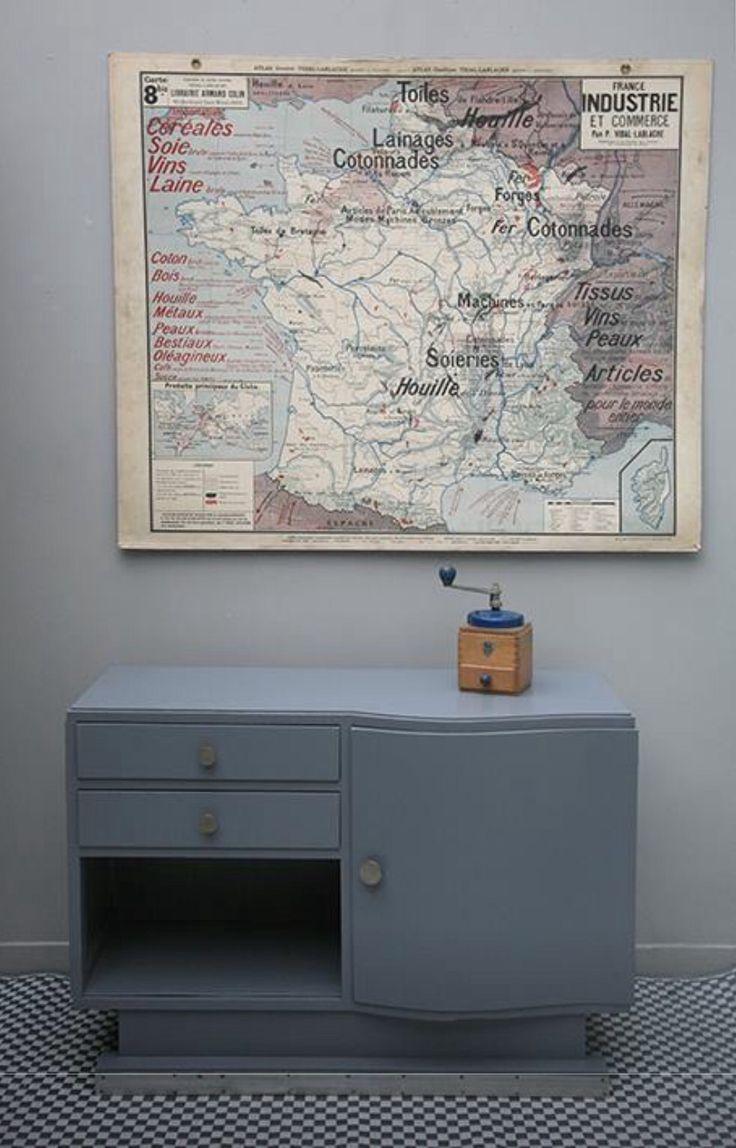 Prachtige blauwtinten #vintage #meuble
