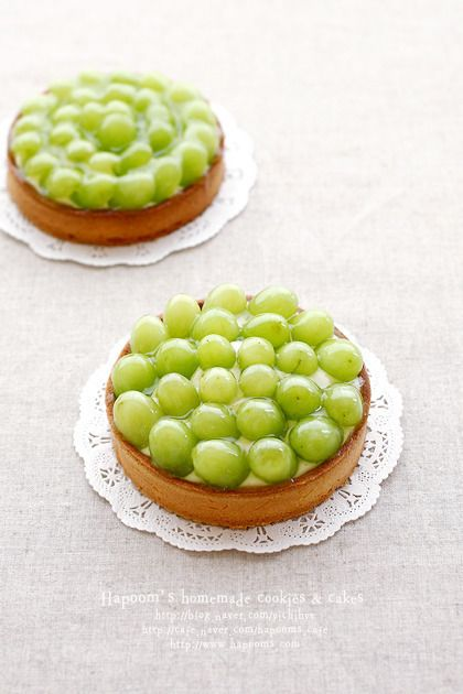 green grapes tart