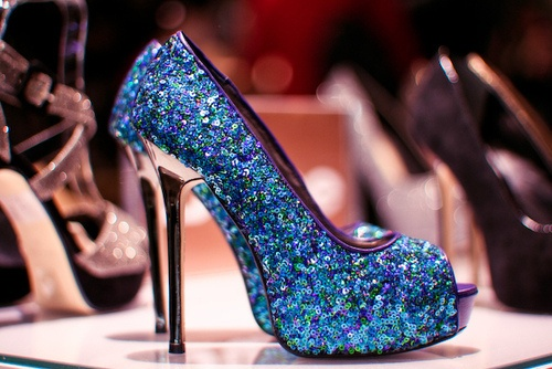 Blue And Purple Heels - Qu Heel