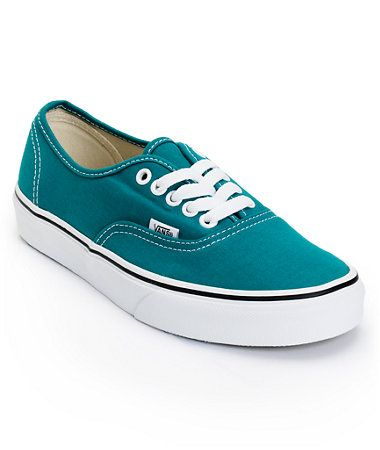 Vans Girls Authentic Deep Lake Teal Shoe at Zumiez