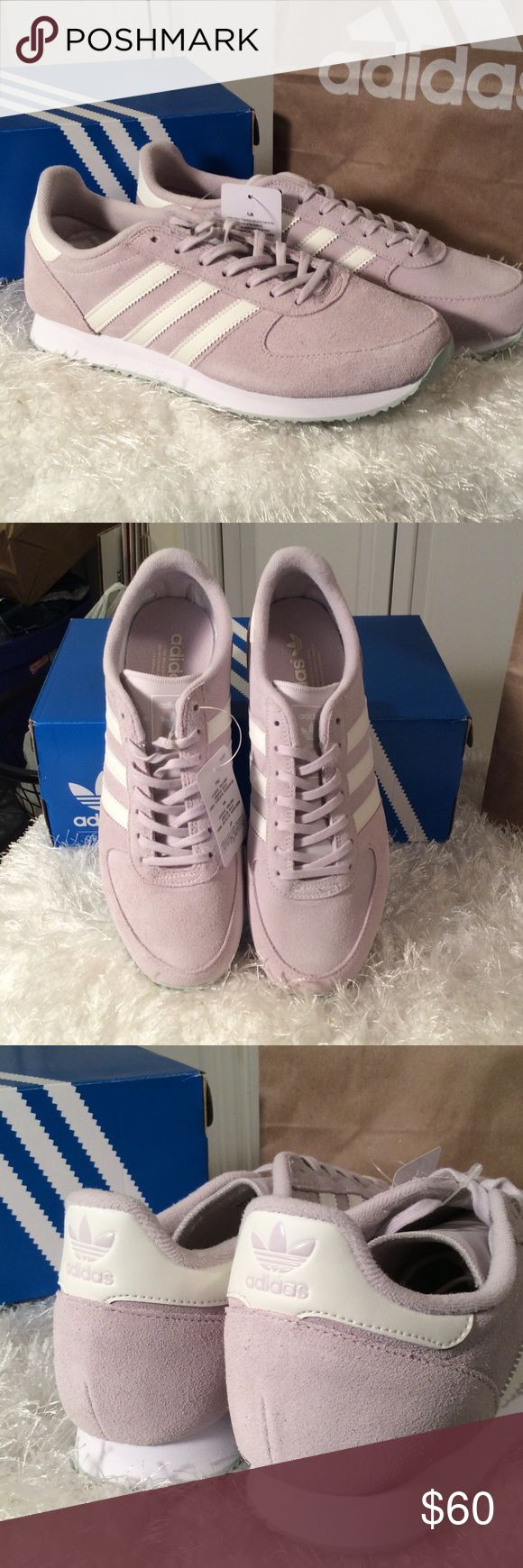 Adidas ZX Racer Lavender suede upper.  Teal sole. Brand new in box Adidas Shoes Sneakers