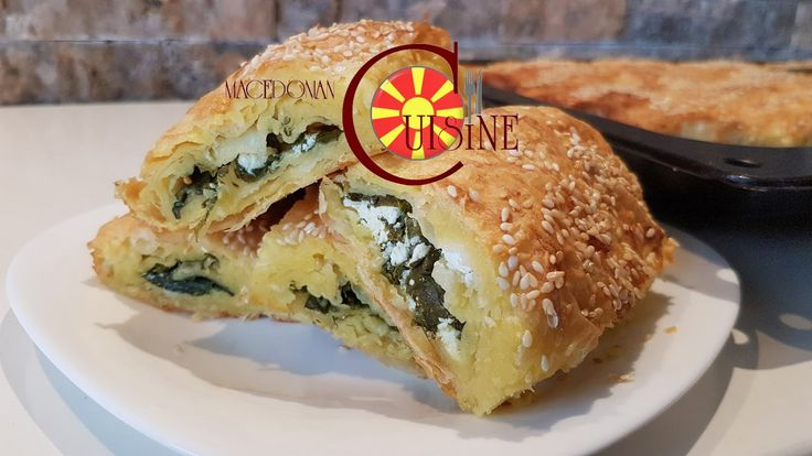 spinach and feta cheese roll with corn flour knead
