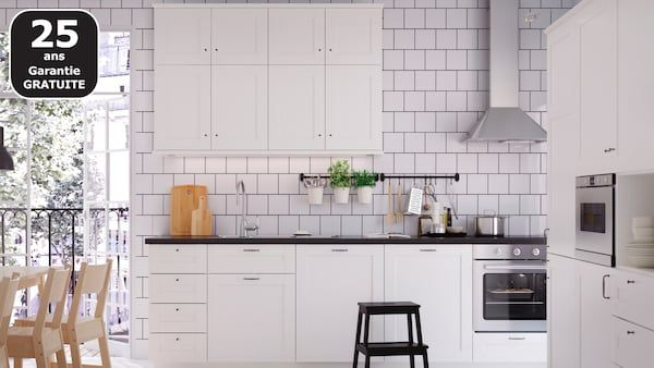 Cuisines Metod Finition Savedal Blanc Ikea Meuble Cuisine Blanc Cuisine Moderne Blanche Cuisine Ikea