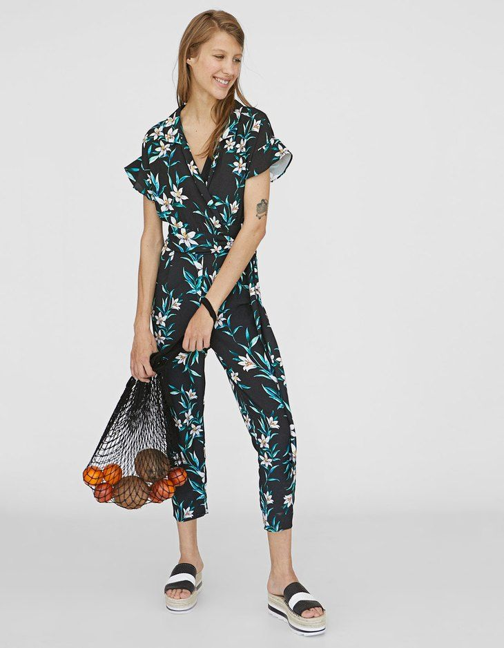 2d5673c328 At Stradivarius you ll find 1 Long printed jumpsuit for just 799 Egypt .  Visit now to discover this and more Dresses.