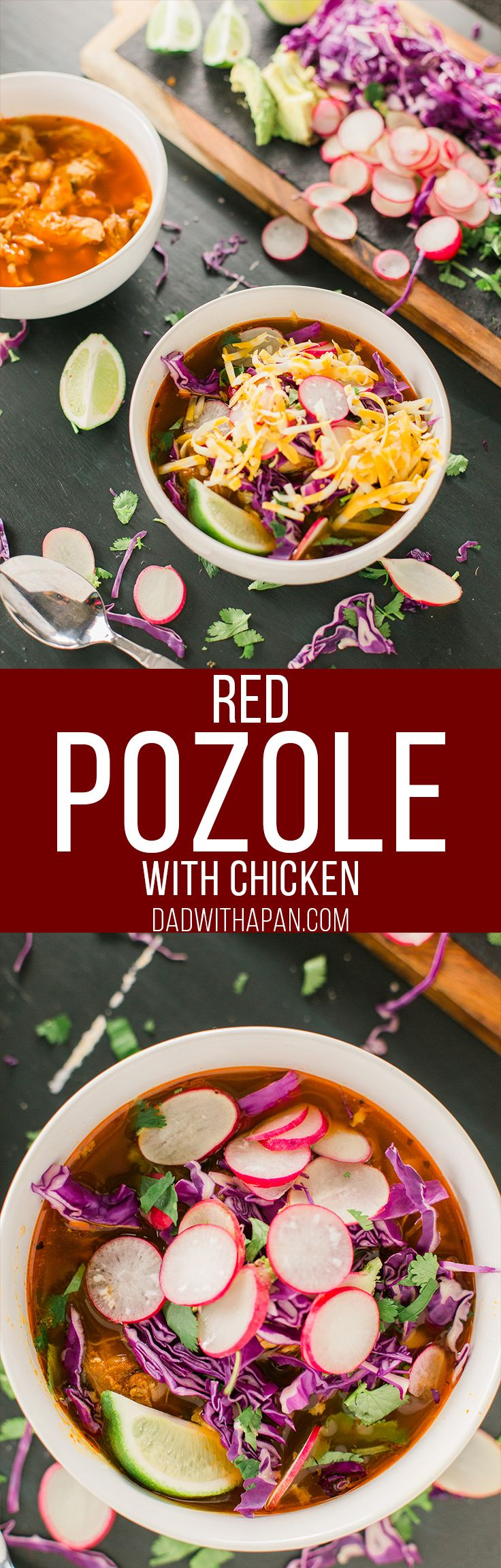A from-scratch Red Pozole with Chicken recipe that is SUPER easy to make!. This is by far one of my favorite soups!