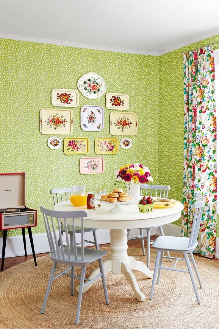 297 best images about dining rooms on pinterest home for Kitchen dining room wallpaper