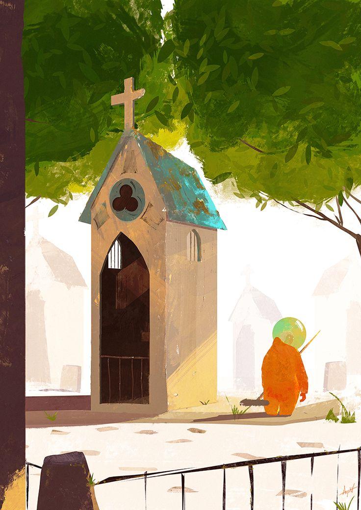 Concept art for my short film.