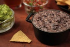 Refried Black Beans - easy now that I found dried epazote at New Frontiers.