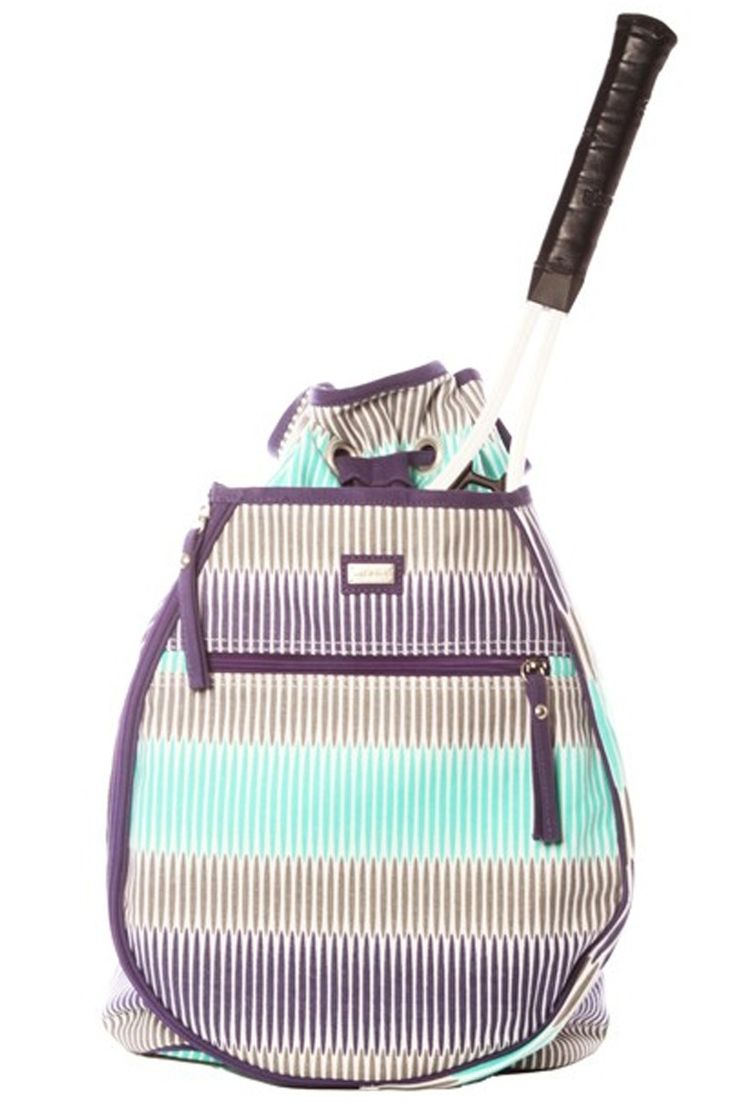 This #tennis backpack is roomy enough for two racquets and any other tennis gear you need. We LOVE the pattern and colors on this #backpack!