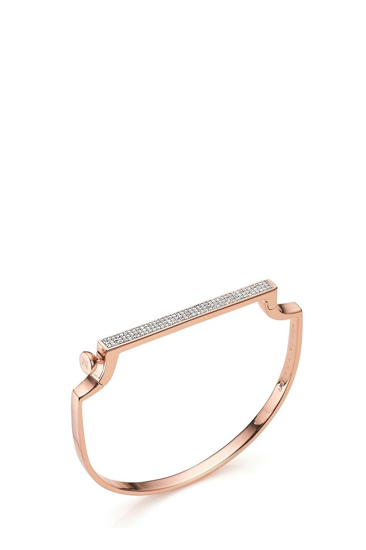SS16   Monica Vinader Signature Thin Diamond Bangle. Available in-store and on Boutique1.com