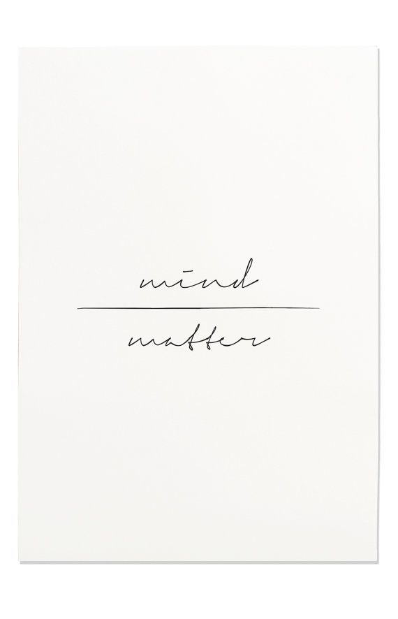 Mind Over Matter Print Motivational Poster by FleurtCollective