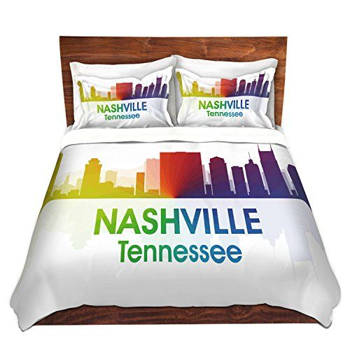 Dianoche Designs Microfiber Duvet Covers Angelina Vick City I Nashville Tennessee Killop 4 In 2019 Duvet Covers Duvet Cover Sets Bed Pillows