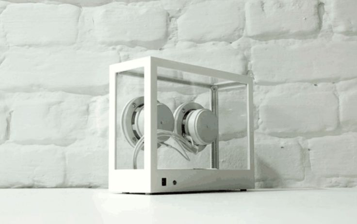 The rear view of the Small Transparent Speaker