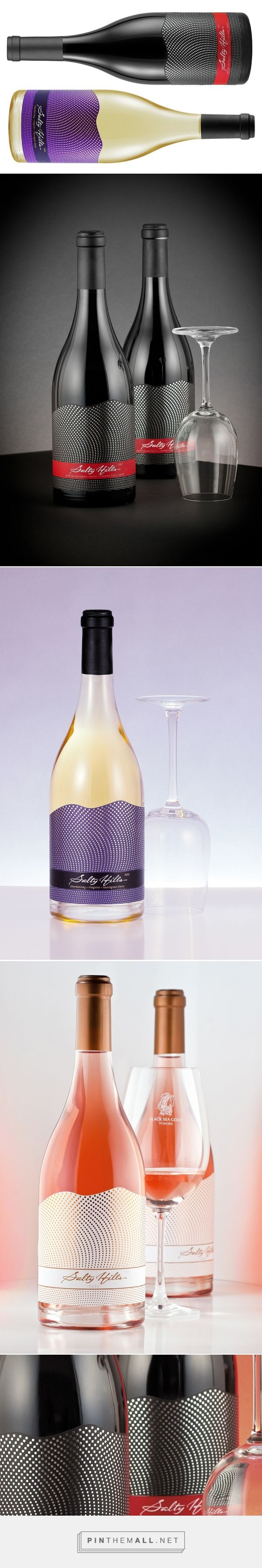 Salty Hills Wine Packaging by Thelabelmaker
