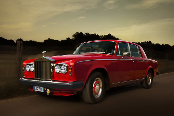 MARCELLO BONFANTI The red Rolls - Rolls Royce - car