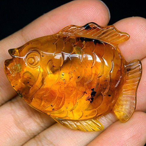 carved amber fish