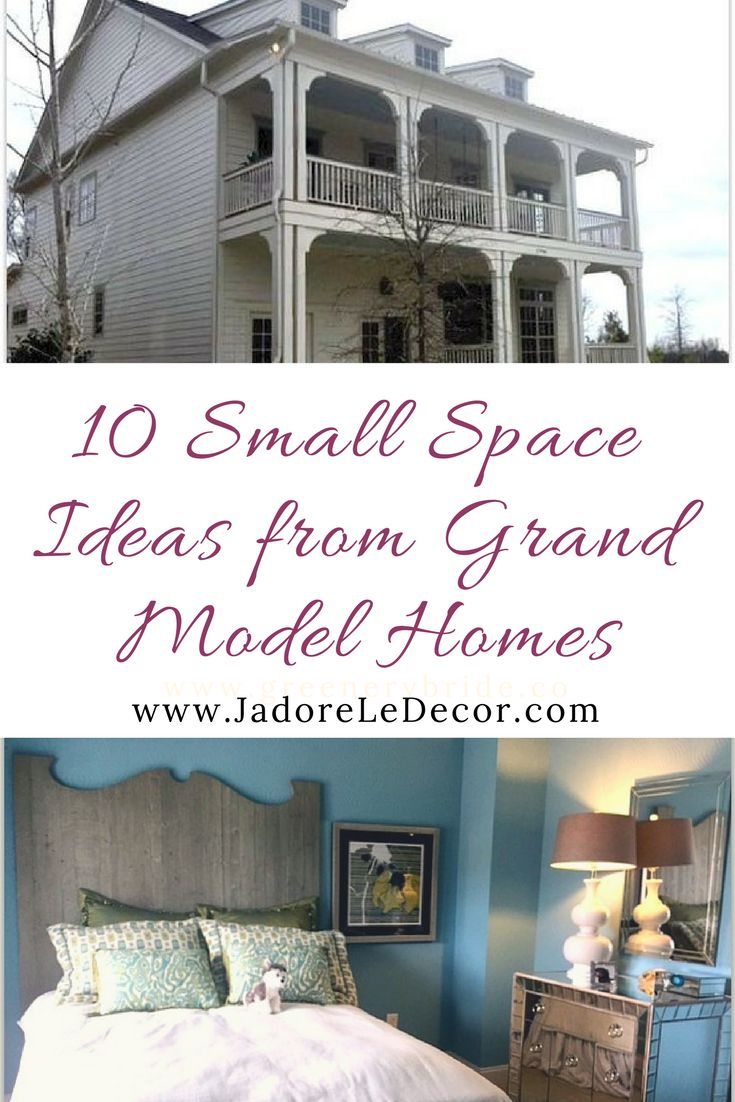 www.JadoreLeDecor.com | 10 Small Space Ideas from a Grand Model Home | Steal tips from large-scale models homes for your small space. #smallspaceliving #jadoreledecor