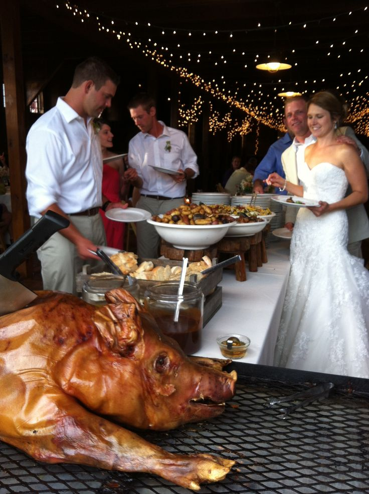 A Great Way To Celebrate A Wedding A Pig Roast Food