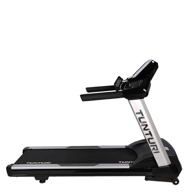 Tunturi Platinum PRO treadmill  Description: De robuuste Platinum PRO loopband is het resultaat van de vele jaren ervaring van Tunturi als pionier in loopbanden. De brede en comfortabele loopband heeft een uitstekende schokabsorptie zodat blessures aan de gewrichten zoveel mogelijk worden voorkomen. De ijzersterke AC motor levert een topsnelheid van 26 km per uur. Dat garandeert solide en stabiel hardlopen ook op lage snelheden.AlgemeenMotor5.0 - 10.0 HP (AC)Snelheid0.8 t/m 26.0Hellingshoek0…