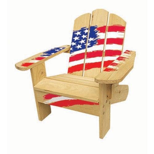 Lohasrus Kid S Adirondack Chair Americana Red White