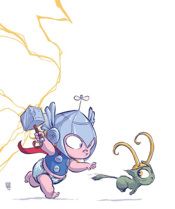 Marvel Superheroes As Babies By Skottie Young | Nerd Approved – Gadgets and Gizmos