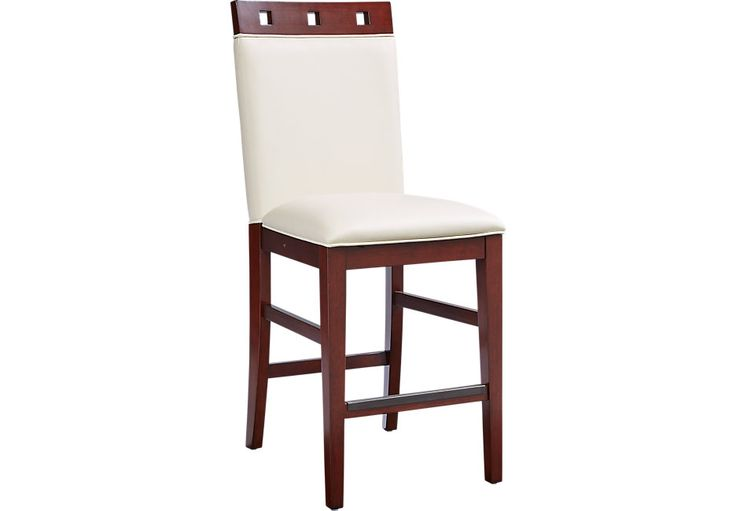 Sofia Vergara  Savona Ivory Wood Top Counter Height Stool
