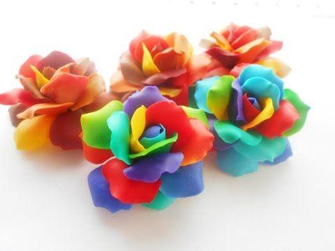 Видео мастер-класс: делаем радужные розы с переходом цвета - Ярмарка Мастеров - ручная работа, handmade