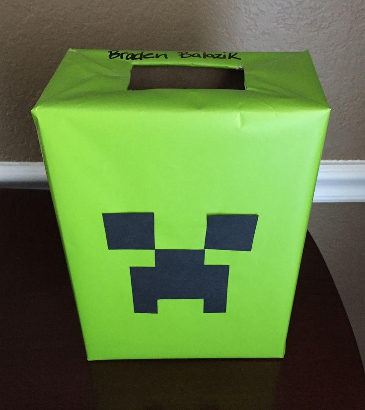 Minecraft creeper valentine box & 26 best Khary Minecraft Valentine Ideas images on Pinterest ... Aboutintivar.Com