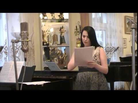 """""""I loved you"""". Liric by Veronica Micle. Sing Kristina Pintilie. Salon """"Eugen Doga"""" 17.01.2015"""