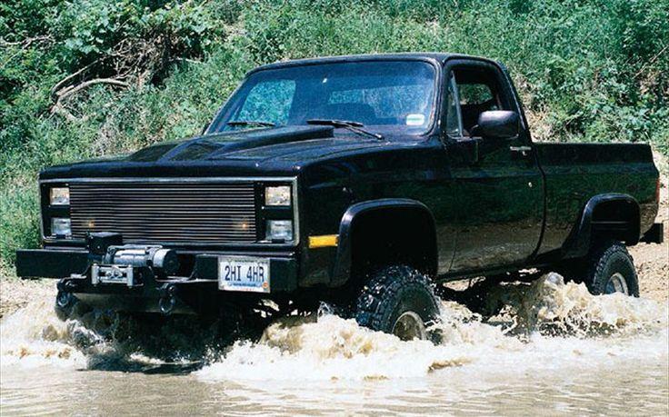1987 chevy silverado | 1987 Chevy Silverado 4X4 Black Cherry Superlift Lift Kit