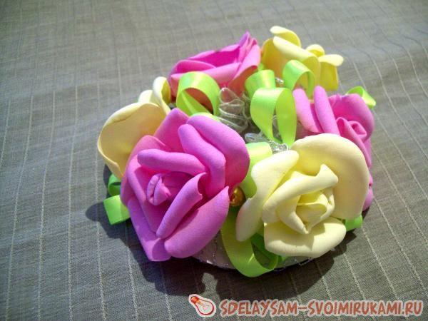 розами из фоамирана