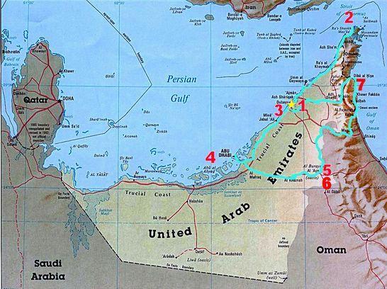 jebel hafeet mountain road map from abu dhabi | al ain ...