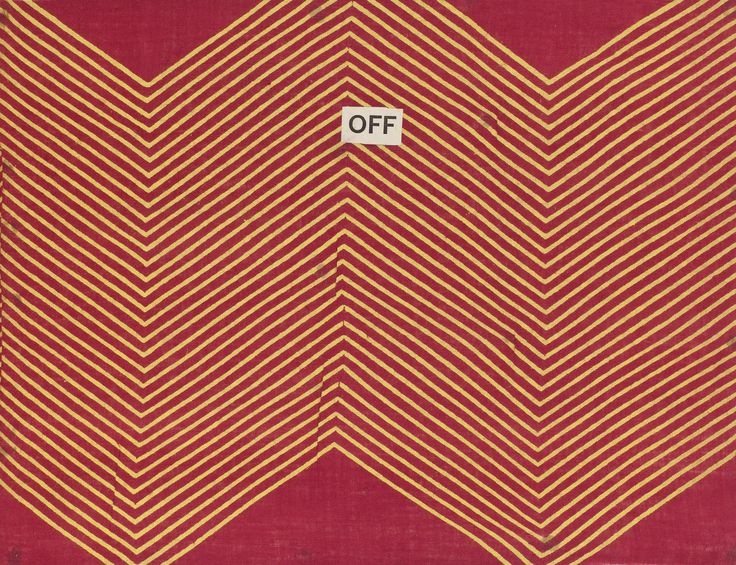 Sample of block printed cotton cloth with a filling pattern of a yellow and red zigzag or 'leheria' design which imitates a traditional tie dye technique. Part of the Turkey Red Collection A.1962.1266.1 - A.1962.1266.78, with subdivisions, totalling c. 40,000 items: Scottish, Dunbartonshire, by John Orr Ewing and Co., late 19th century