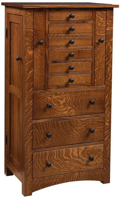 Defined By Its Clic Craftsman Silhouette The Amish Built Saint Mailo Jewelry Armoire Keeps Your Accessories Organized In Handcrafted Style