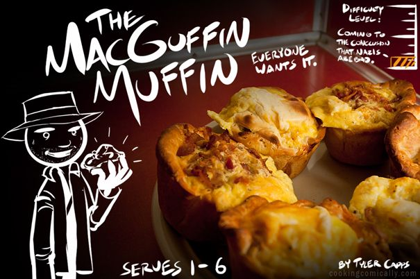 Stick figure cooking instructions, wonder if Craig would do?: Macguffin Muffins, Breakfast Muffins, Basic Recipe, Recipe Site, Cooking Comic, Comic Recipe, Funny Recipe, Biscuits Muffins, Savory Muffins