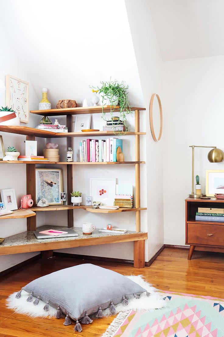 Design Bedroom Bookshelf best 25 bedroom shelves ideas on pinterest shelving sara updates her childhood office corner