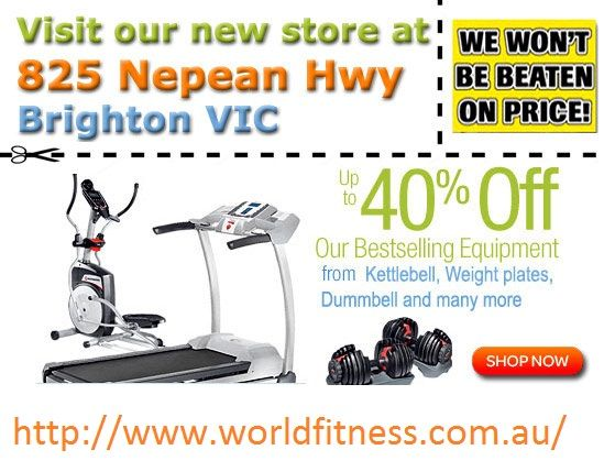 Best offer at our store, Visit at http://www.worldfitness.com.au/contact_us.php