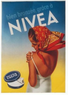 Original vintage poster NIVEA SUN TAN LADY BEACH 1949 $780