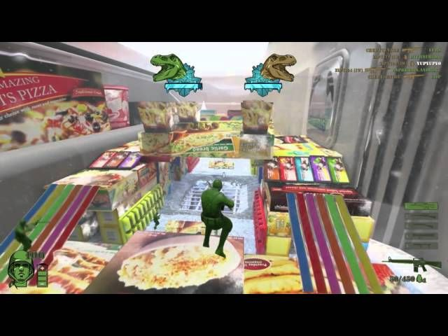 The Mean Greens digitizes your childhood fantasy battles with a third person shooter starring green and tan army me