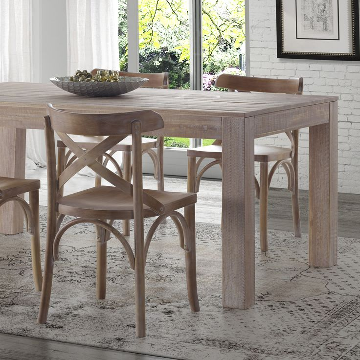 Solid Wood Kitchen Tables: Montauk Solid Wood Dining Table