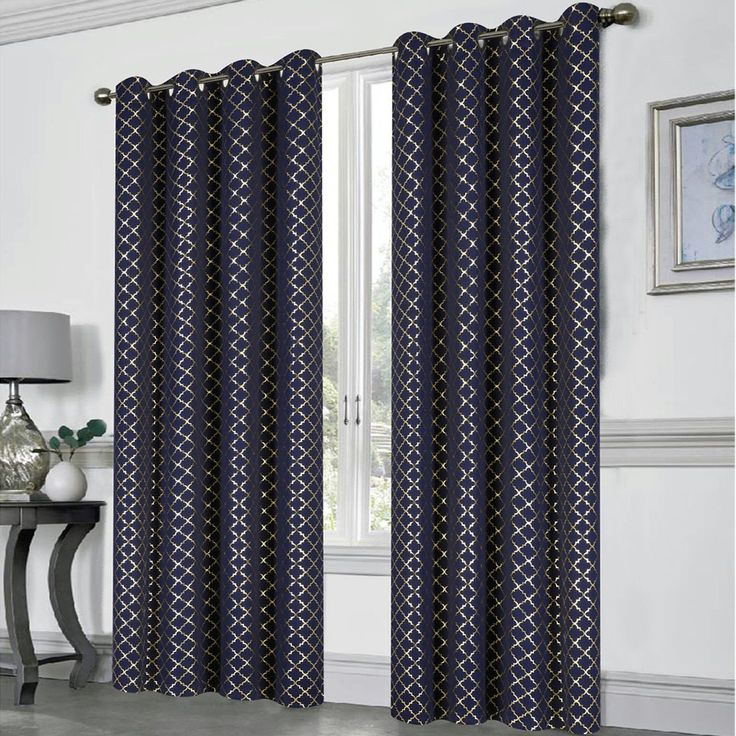 Foil Printed out Room Darkening Curtain Panel