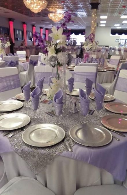 44 Ideas Wedding Centerpieces Lavender Silver For 2019