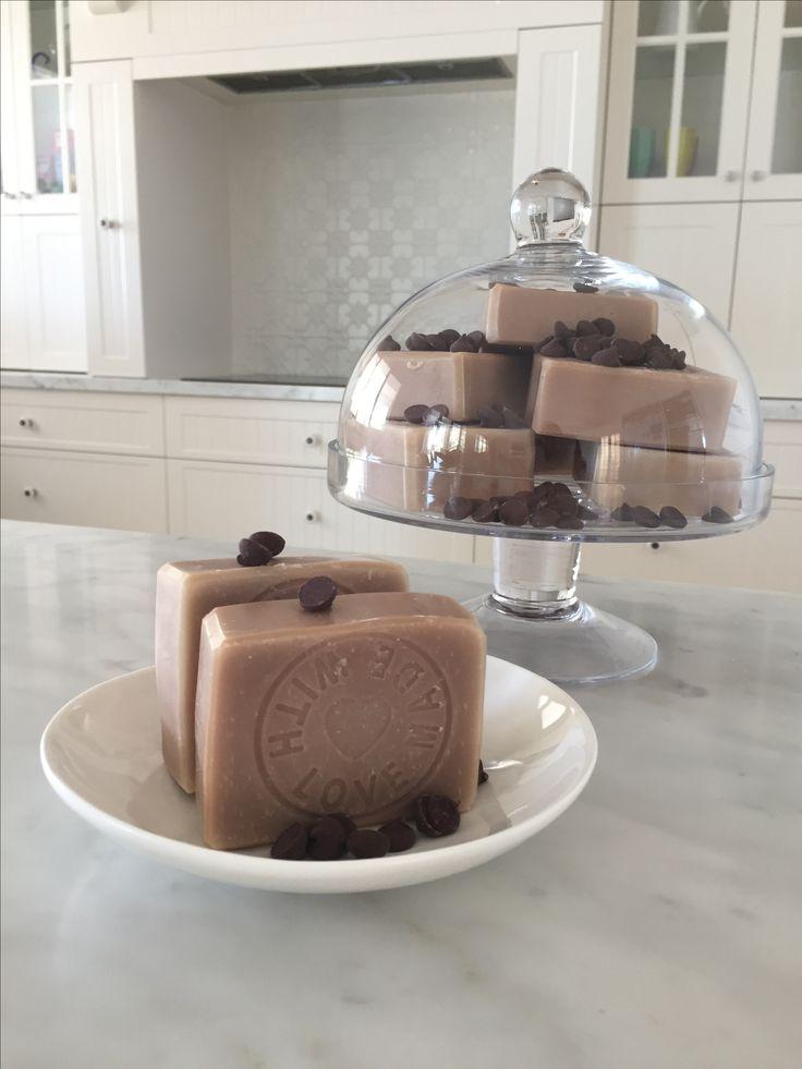 Chocolate cream natural soap