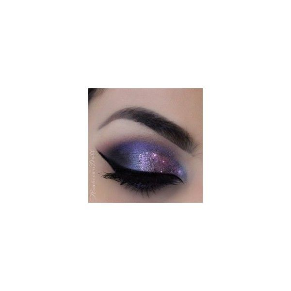 Galaxy eye makeup for brown eyes ❤ liked on Polyvore featuring beauty products, makeup and eye makeup
