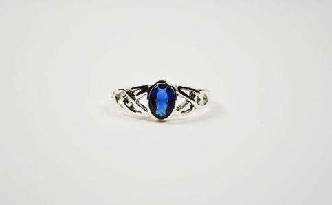 Blue sapphire Celtic style sterling silver ring stamp 925 made in Thailand very pretty & beautiful Ring size : 8 US    ** Please Note **  Differences in color may be caused by some other reasons such as color reflection in the monitor or lighting.      Will Shipped from United States Via USPS Pri...