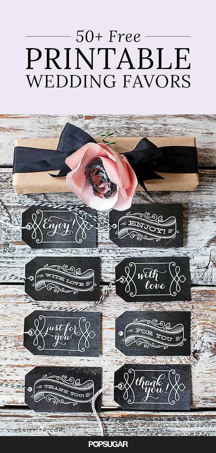 59 Beautiful Wedding Favor Printables to Download For Free! I like these for other uses besides weddings. They are very nice tags.