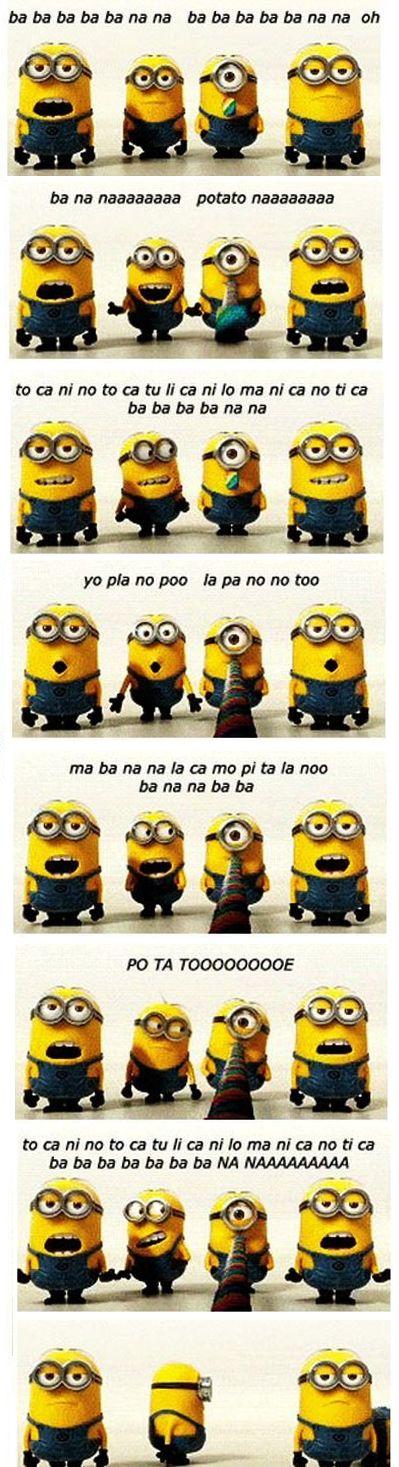 Minion Banana Song with lyrics!!!