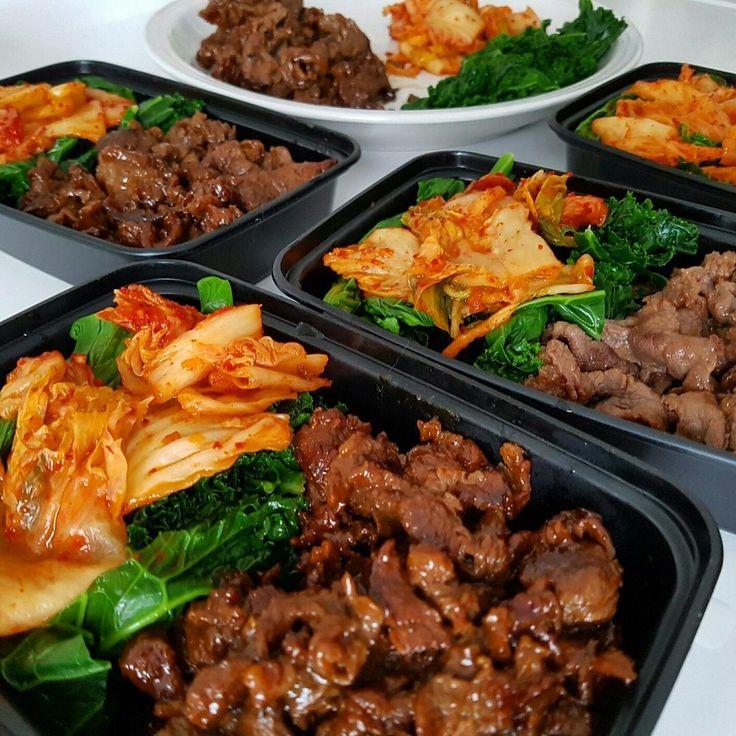 Lunch box: Homemade Korean Bulgogi Kim Chi & Kale. [OC][1080x1080] http://ift.tt/2aIDD07